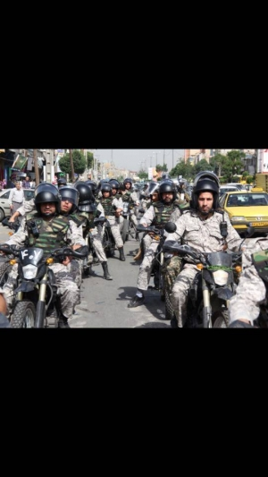 Mobilization of security forces in the capital city of ALAhwaz